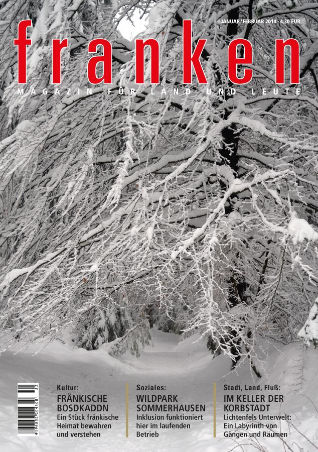 Unser Titelbild zeigt einen verschneiten Waldweg in Oberfranken
