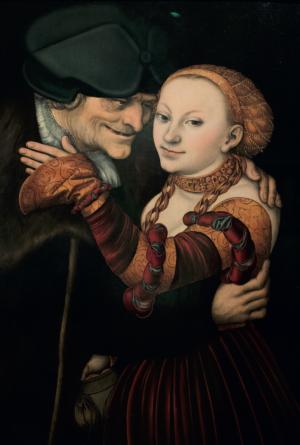 Ungleiches Paar (1528) von Lucas Cranach d. Ä.