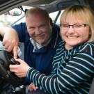 Mit viel Sensibilität brachte Host Kwiotek Ramona Rupprecht das Fahren bei.