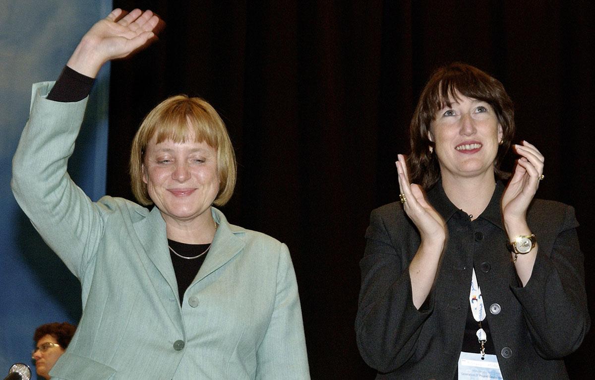 CDU Bundesvorsitzenden Angela Merkel, 2001