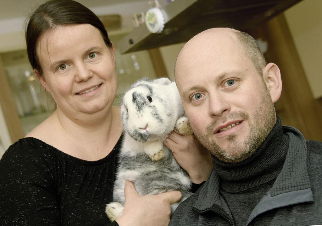 Kaninchenzüchterpaar Barbara und Patrick Elting