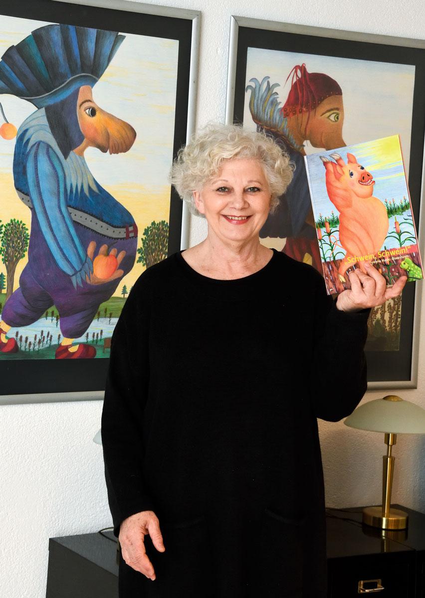 """Tierisch humorvoll: In ihrem Buch """"Schwein, Schwein!"""" erzählt die Psychotherapeutin und Autorin Krystyna Hurec-Diaczyszyn schweinisch-schöne Geschichten"""